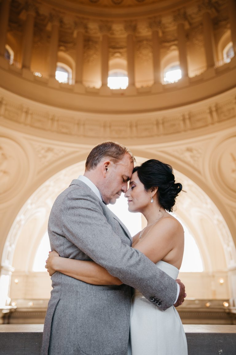sf city hall wedding elopement intimate couples family session san francisco california