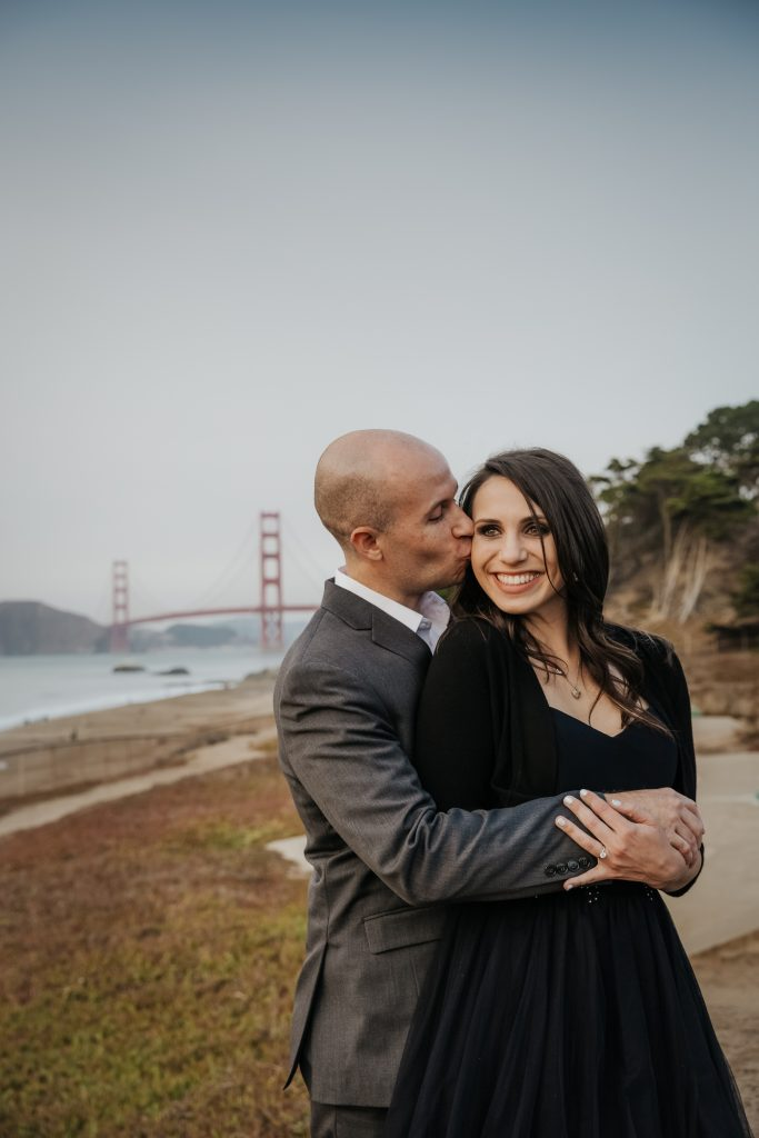 Engagement session couples Baker Beach San Francisco California