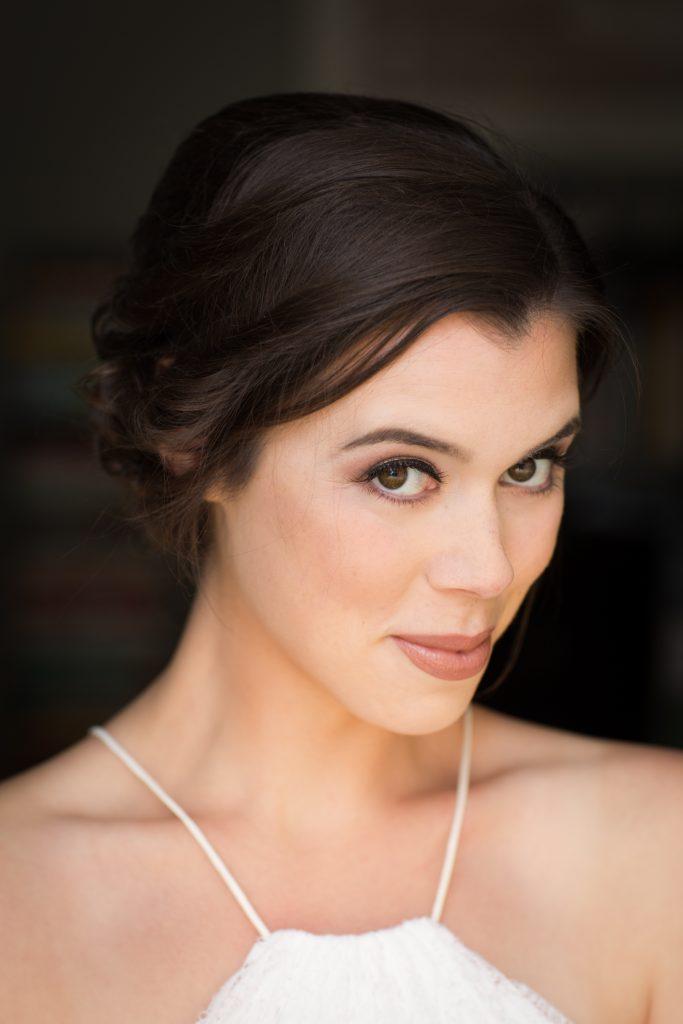 Headshot portrait of American actress