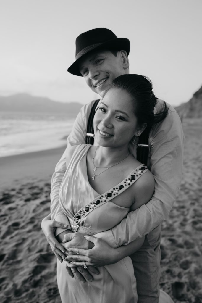 baker beach engagement sf session