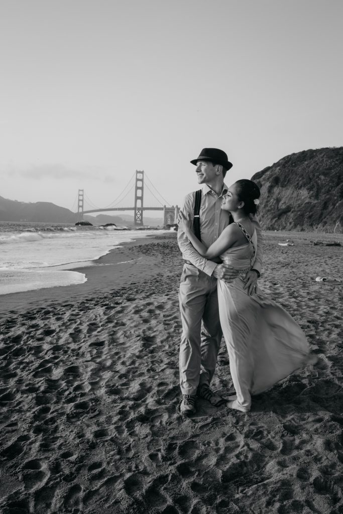 baker beach engagement session trine chris